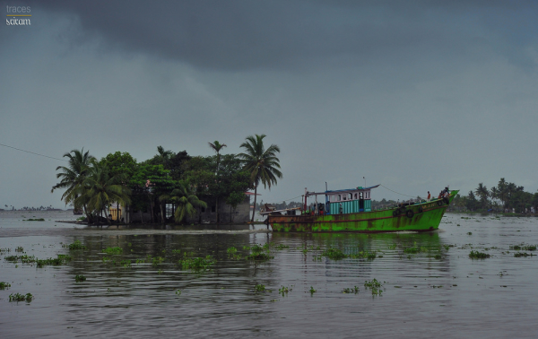 Rainy day at the backwaters