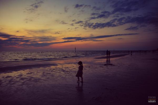 Feel of the wet sand