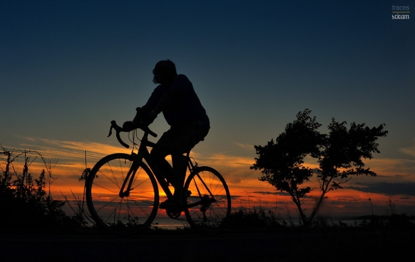 Perfect evening for cycling
