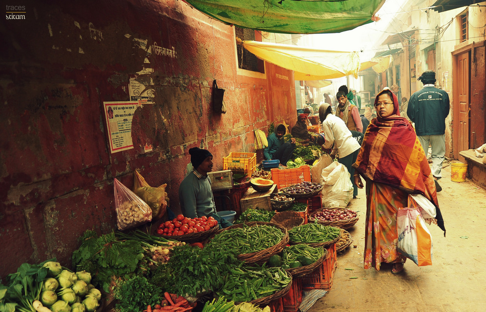 Morning at the vegetable market