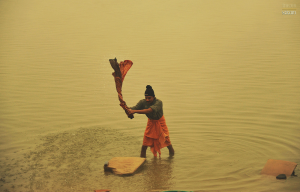 Washing away at Ganges