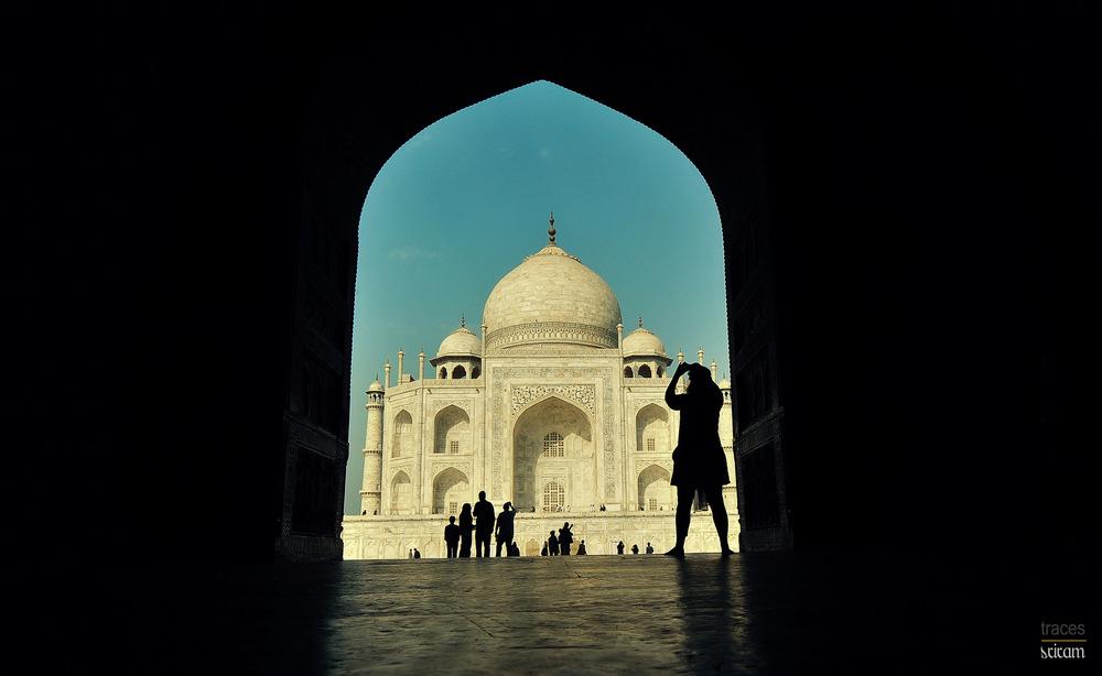 Snapping the Taj