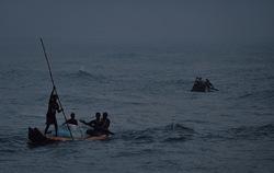 Into the sea at twilight
