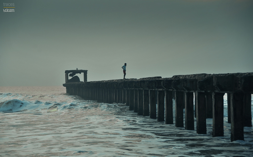 On top of the pier in Monsoon