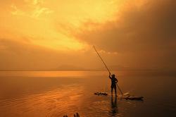 Across the shining waters