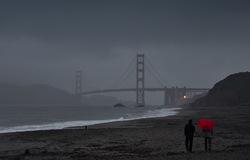 Rainy day at Baker's beach