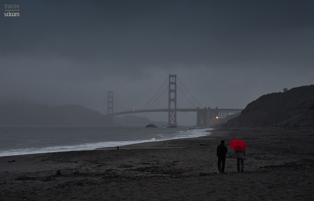Rainy day at Baker's beach