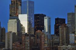 NY at twilight