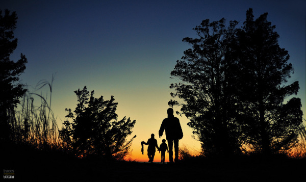 Explorers at twilight