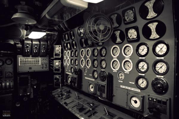 Control Room, World War II Submarine