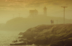 Rays through the fog