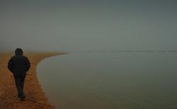 Lake full of mist