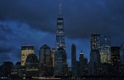 A cloudy evening in Manhattan