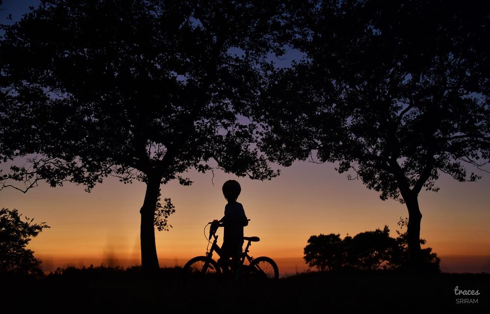 Evening biking