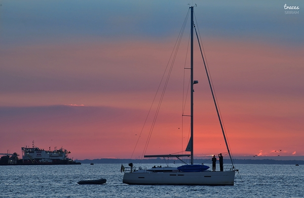 Sailing away into sunset