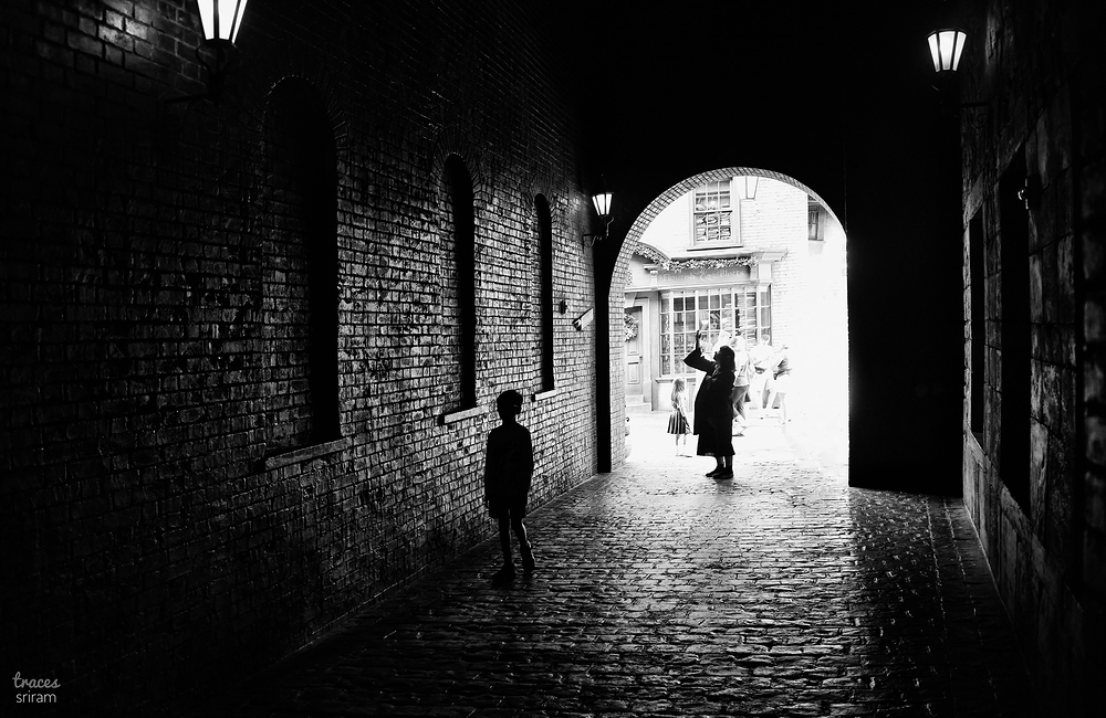 Shadows in the alley