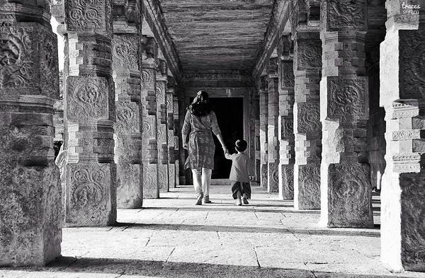 Walking through Darasuram corridors