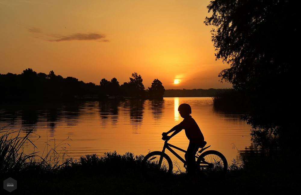 Dawn biker