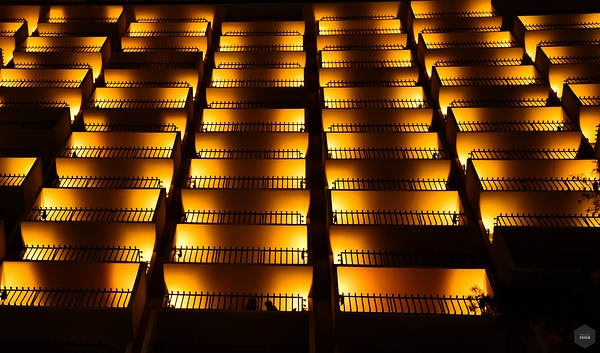 Lighted balconies