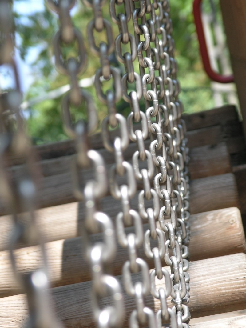 Chains on playground