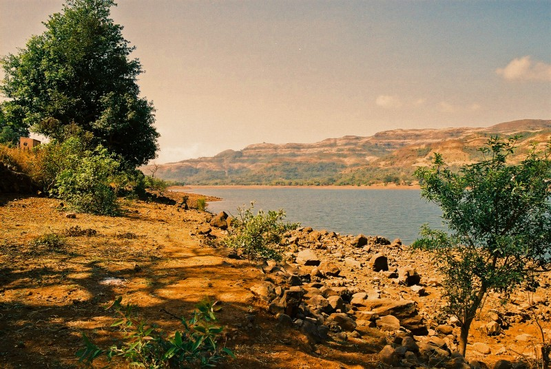 lake enroute to shrivardhan