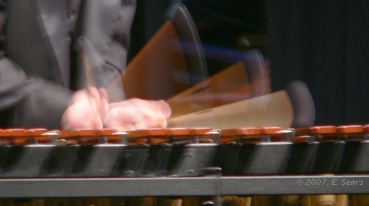 closeup photo of a marimba soloist