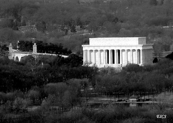aerial view of Lincoln Memorial, Washington DC