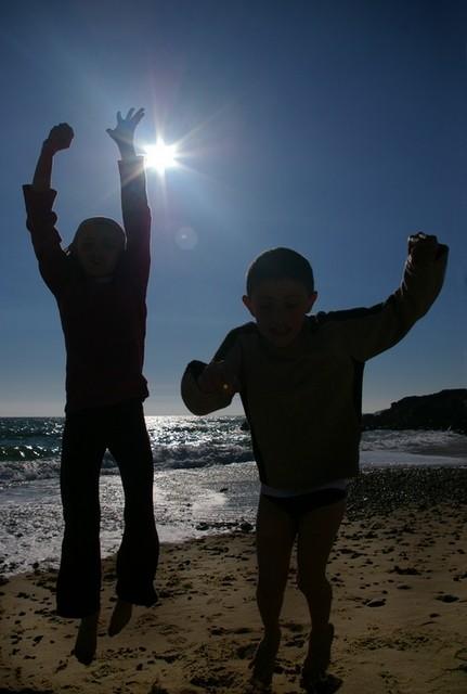 beach child pentax 18-55 contrejour K100D