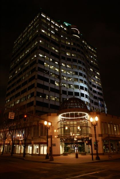 Lighted Building