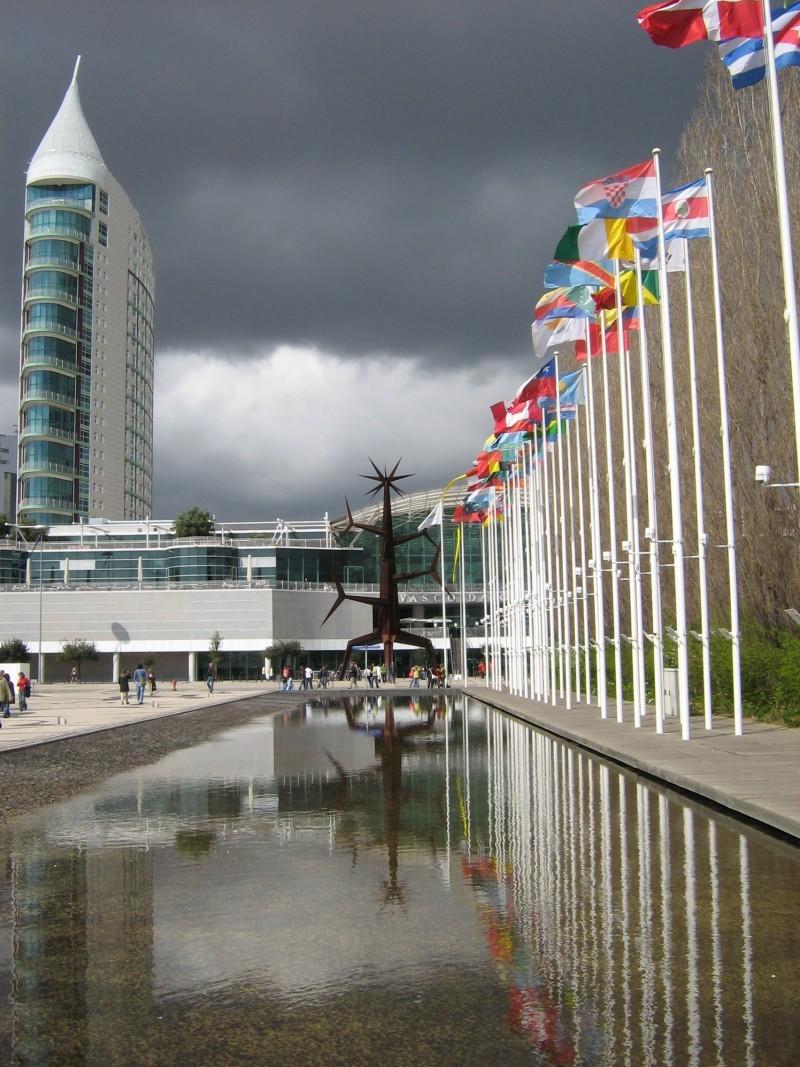 chuva parque nações