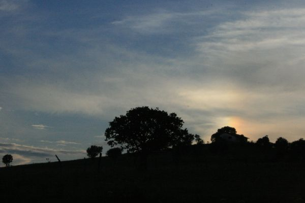 Colored Dark Sunset