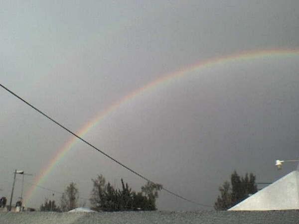arcoiris en el atardecer