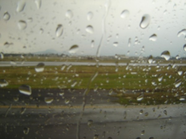 lluvia en la pista