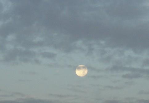 luna del amanecer