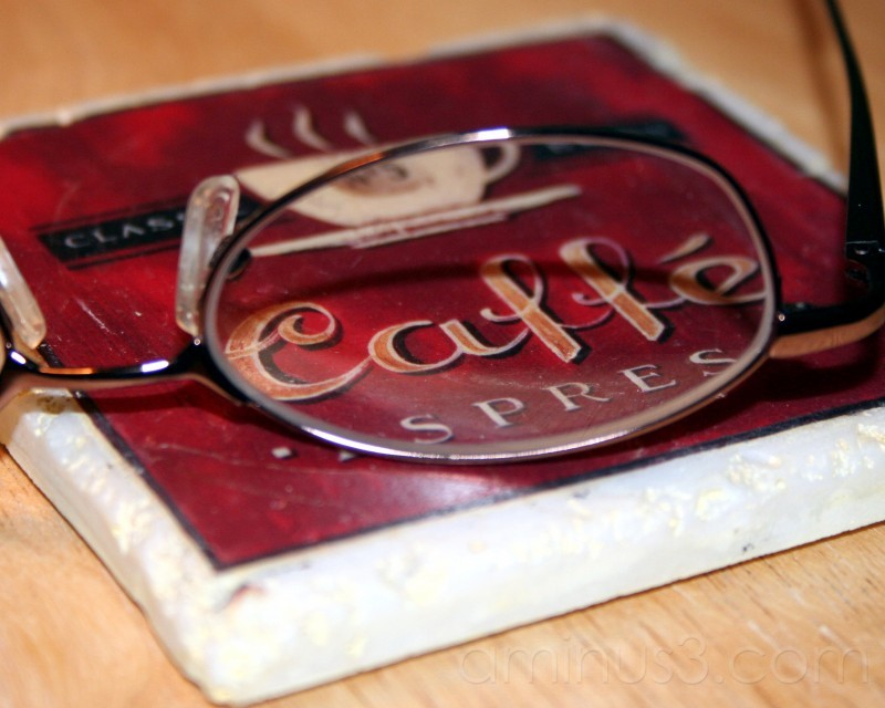coaster and glasses