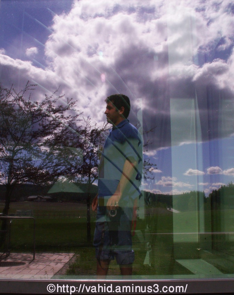 Self-portrait and clouds