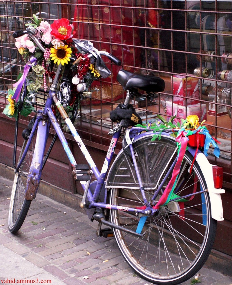A decorated bike