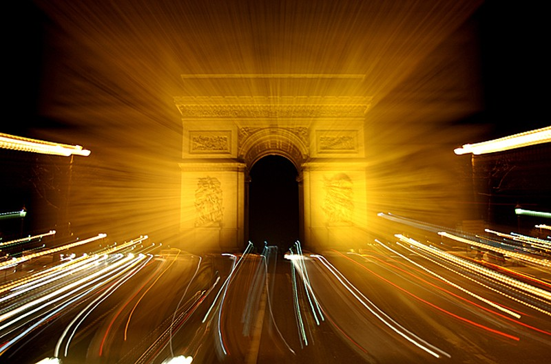 Zooming sur l'Arc de Triomphe de Paris