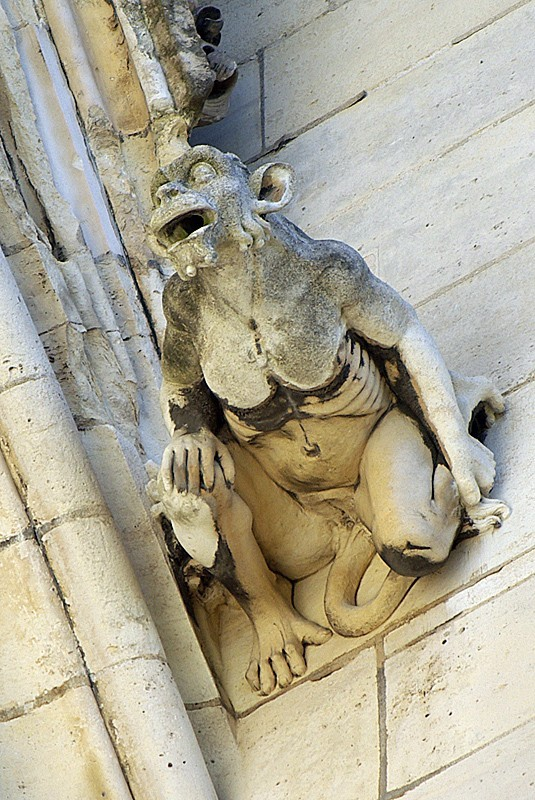 Gargouille de façade au Château de Vincennes