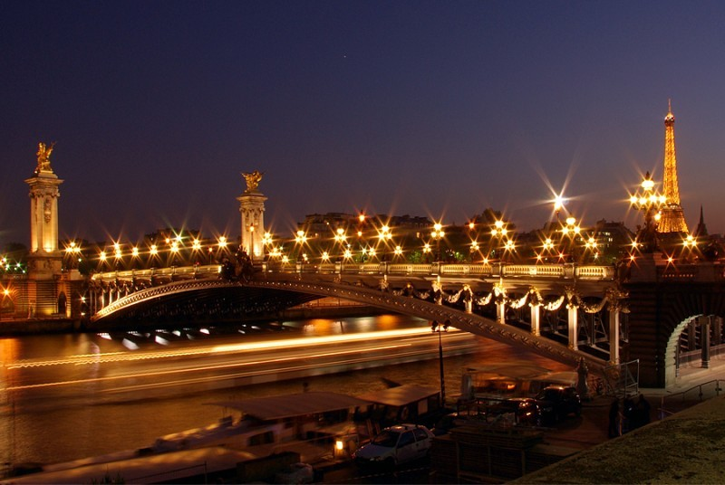 Pont Alexandre III - La nuit