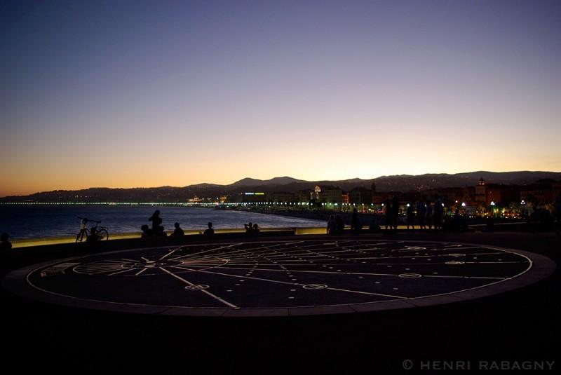 Nice, promenade nocturne