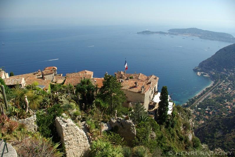 Eze village, vue panoramique