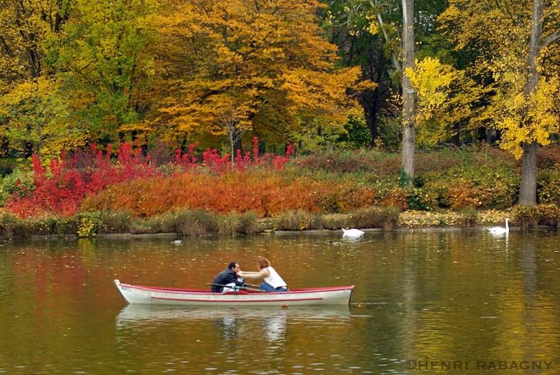 Balade en barque au bois de Vincennes