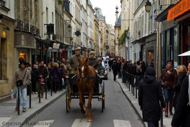 Rue des Francs Bourgeois dans le Marais