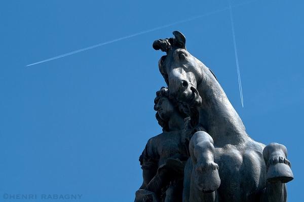 Statue équestre Louis XIV