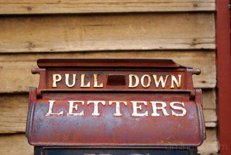 pull down letters