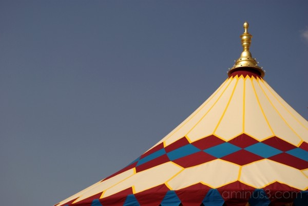 top of a merry-go-round