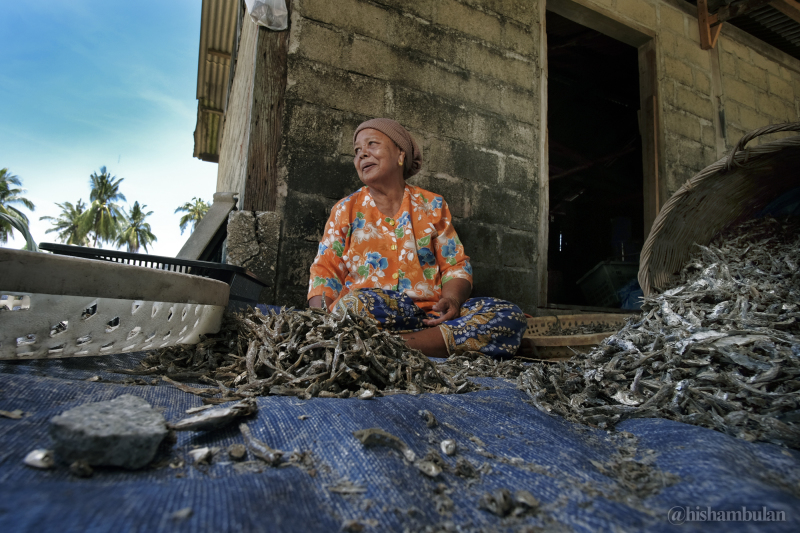 Dry Fish Worker