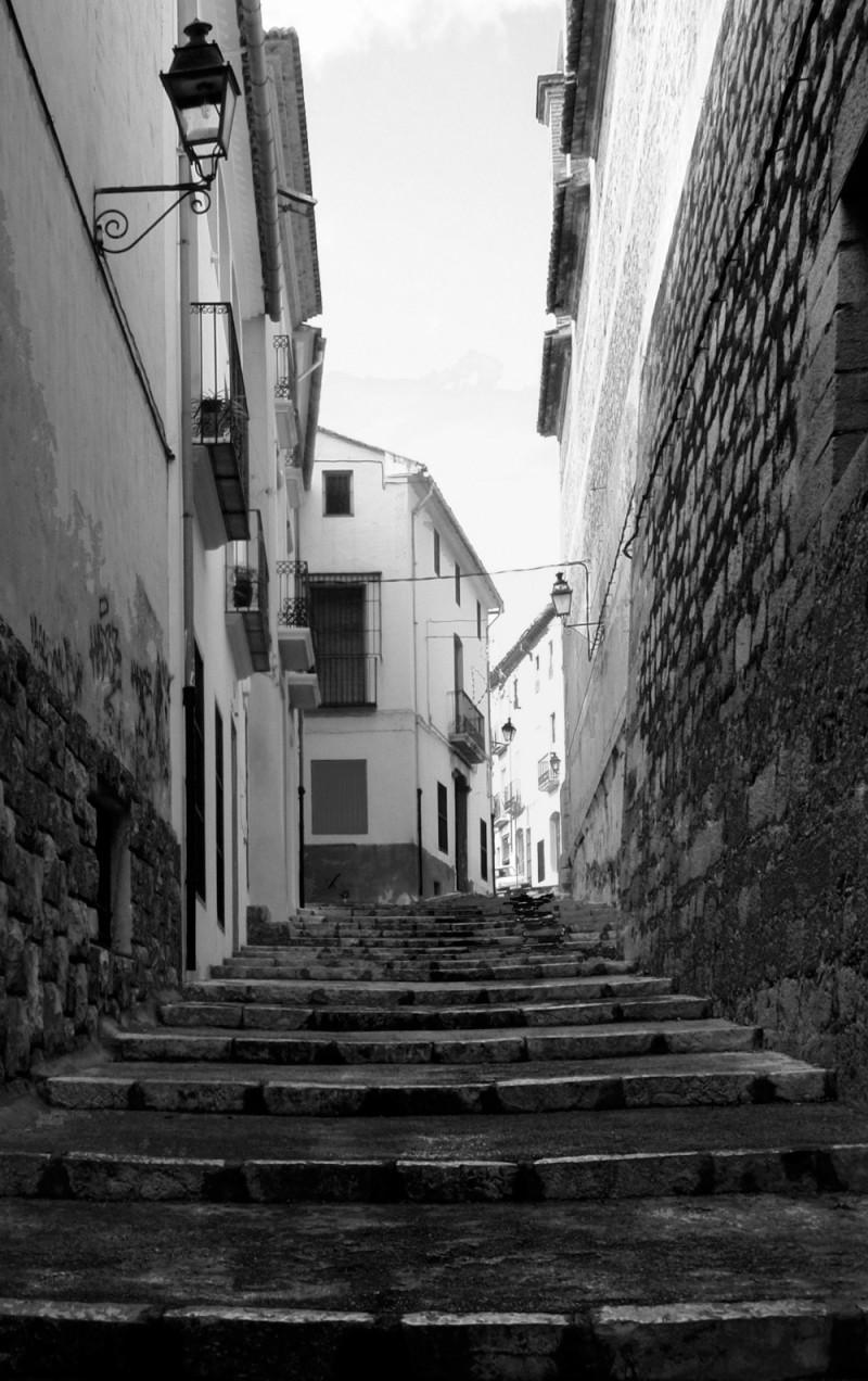 Stone Steps in B & W
