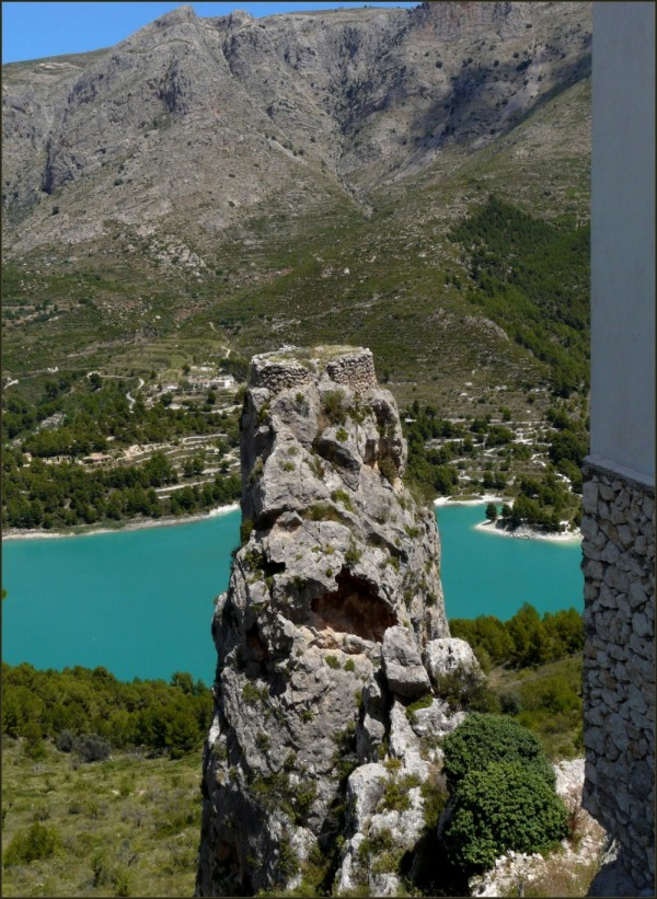 Rock Face in Guadalest